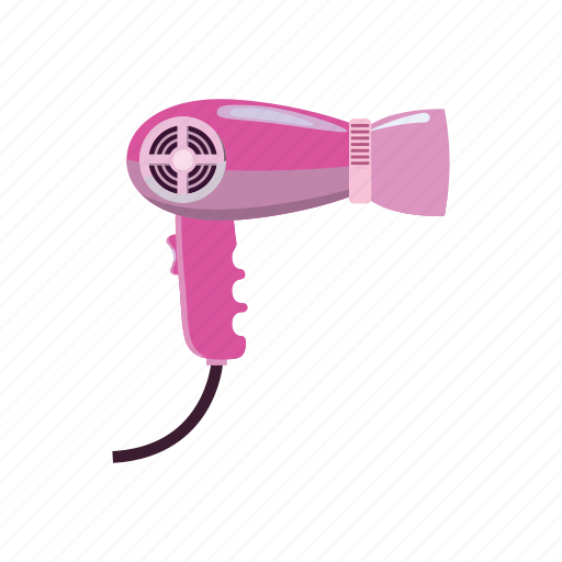 air, barber, cartoon, dryer, hair, hairdryer, salon icon