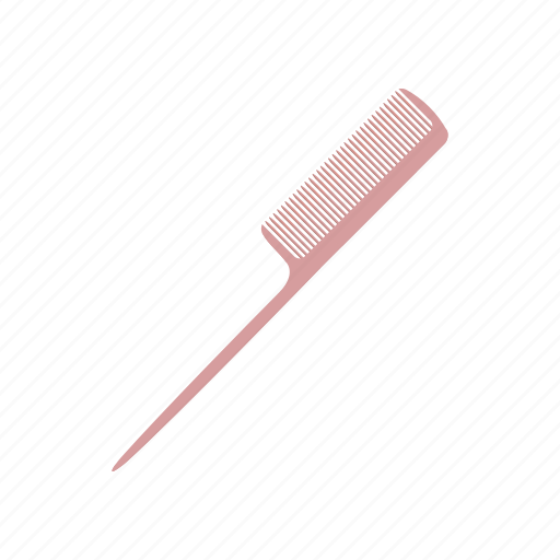 care, cartoon, comb, hair, hairbrush, hairstyle, pink icon