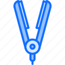 barber, barbershop, hair, hairstyle, iron icon