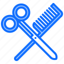 barber, barbershop, hair, hairbrush, hairstyle, scissors icon