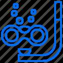 bubble, diving, goggles, sea, snorkel, vacation icon