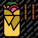kebab, doner, food, restaurant, fast