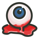 bloody, eyeball, halloween, scary icon