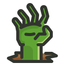 evil, halloween, hand, undead, zombie icon