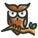 halloween, owl, spooky icon
