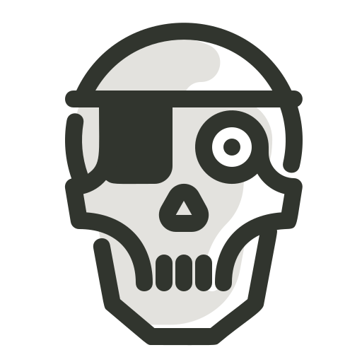 Halloween, pirates, skeleton, skull, spooky skull icon - Free download