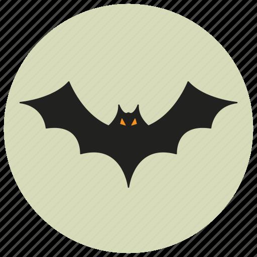 bat, dark, decoration, fly, halloween, night, scary icon