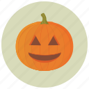 carve, decoration, halloween, pumpkin, smile icon