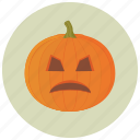 carving, decoration, halloween, pumpkin, upset icon