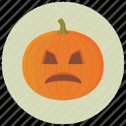 carving, decoration, halloween, pumpkin, upset icon