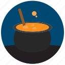 bubble, cauldron, halloween, pot, potion, witch icon