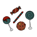bone, candy, creepy, halloween, sweet, sweetmeats, taste icon