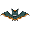 bat, creepy, halloween, scary icon