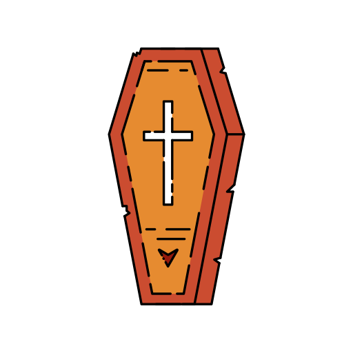 burial, cemetery, creepy, death, funeral, grave, halloween icon icon