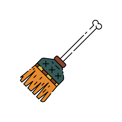 besom, broom, broomstick, creepy, halloween, magic, witch icon