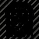 halloween, october, scary, skull icon