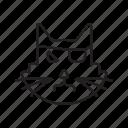 black magic, cat, evil, halloween, taboo icon