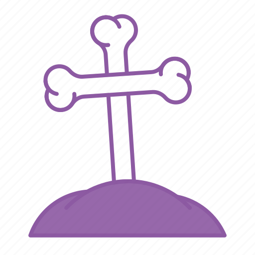 cross, death, funeral, grave, halloween, rip icon