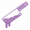 blood, cut, halloween, knife, weapon icon