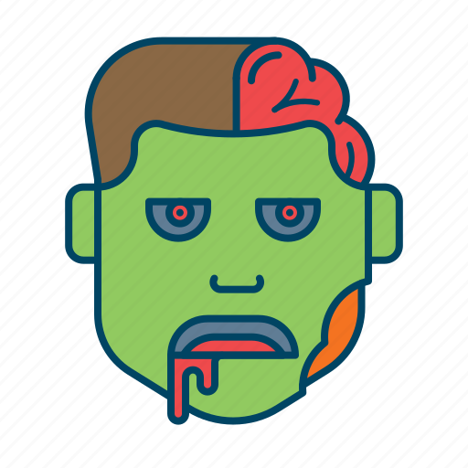 brain, character, halloween, horror, monster, scary, zombie icon