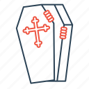 coffin, cross, death, halloween, hand, mummy icon