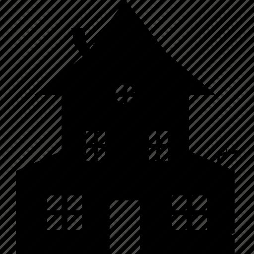 halloween, house, spooky icon