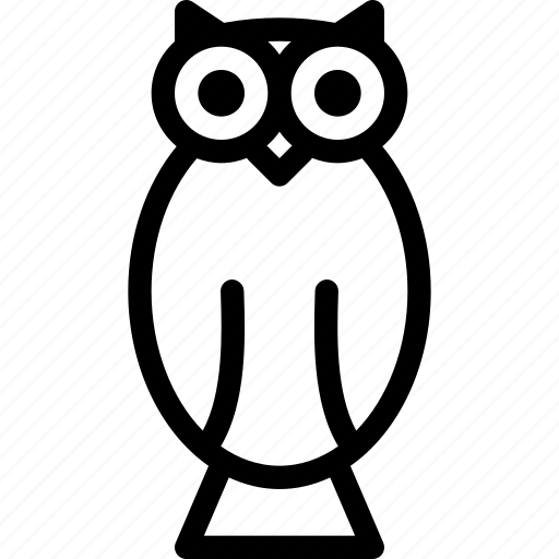 animal, bird, fly, night, owl icon
