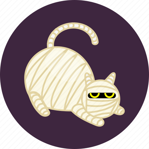 animal, cat, evil, halloween, mummy, pet, scary icon