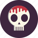 blood, death, halloween, horror, scythe, sickle, skeleton icon