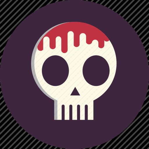 blood, death, halloween, horror, scythe, sickle, skeleton icon