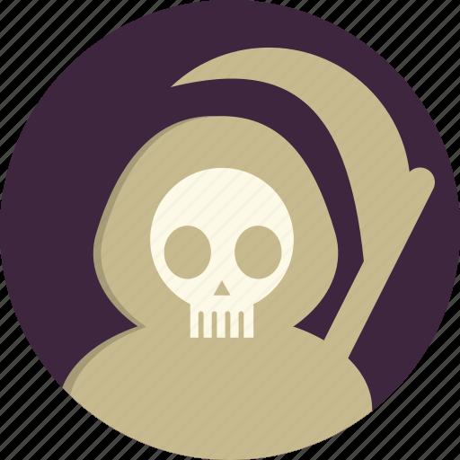 dead, death, halloween, horror, scythe, sickle, zombies icon