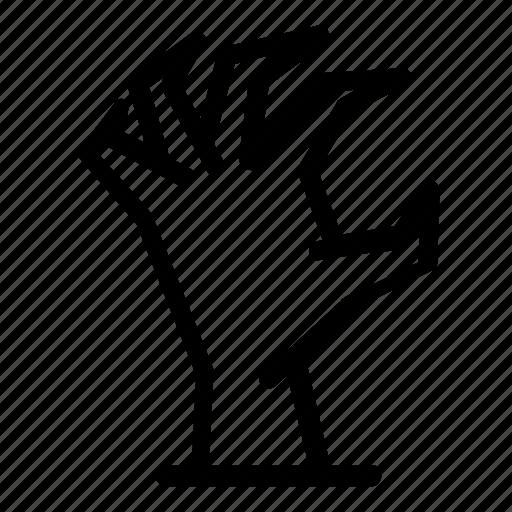 halloween, hand, rise, zombie icon