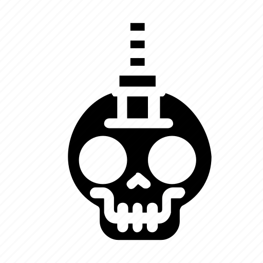 halloween, knife, skull icon