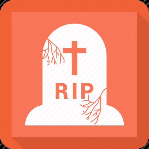 burial, halloween, headstone, tomb icon