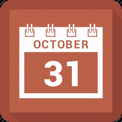 calendar, date, halloween, oct, october icon