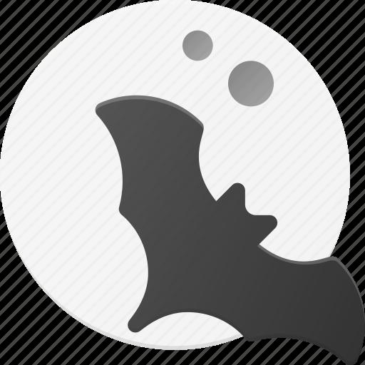 bat, halloween, holyday, moon, night, spooky icon