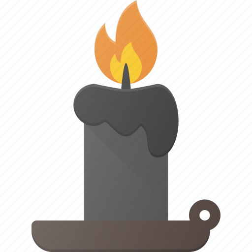 candle, halloween, holyday, light icon