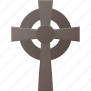 celtic, cross, grave, halloween, holyday, stone icon