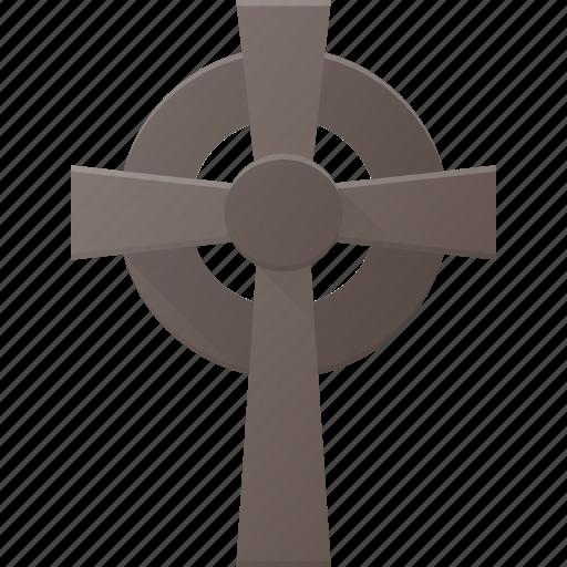celtic, cross, grave, halloween, holyday, stone icon