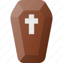coffin, dead, grave, halloween, holyday icon