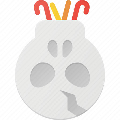 candy, halloween, holder, holyday, skull icon