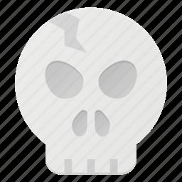 death, halloween, holyday, scare, skull icon