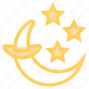 crescent, halloween, moon, night, starico icon