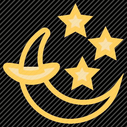 crescent, halloween, moon, night, starico icon