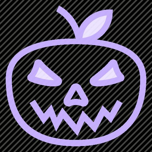 angry, halloween, pumpkinicon icon