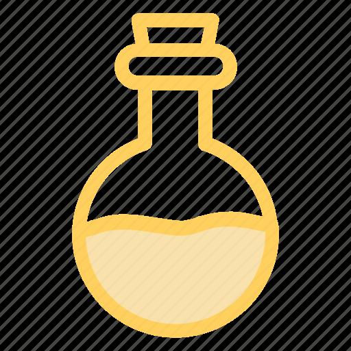 beaker, chemistry, glass, halloween, poison, potion, witchicon icon
