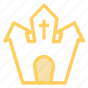 castle, ghost, halloweenicon icon