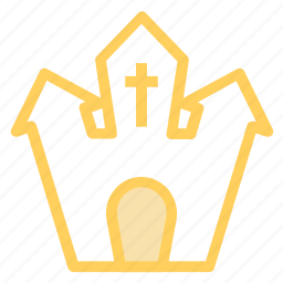 castle, ghost, halloweenicon icon