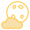 cloud, fullmoon, halloween, moonicon icon
