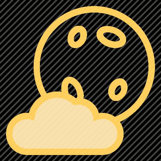 cloud, fullmoon, halloween, moonicon icon